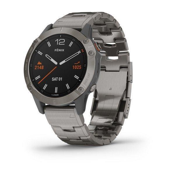 ساعت گارمینFenix 6 Pro and Sapphire Editions Titanium with vented titanium bracelet