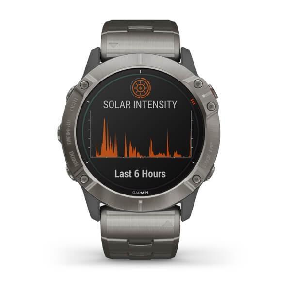 ساعت گارمین fenix 6x pro solar titanium