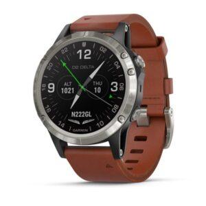 ساعت گارمین D2 delta aviator brown leather